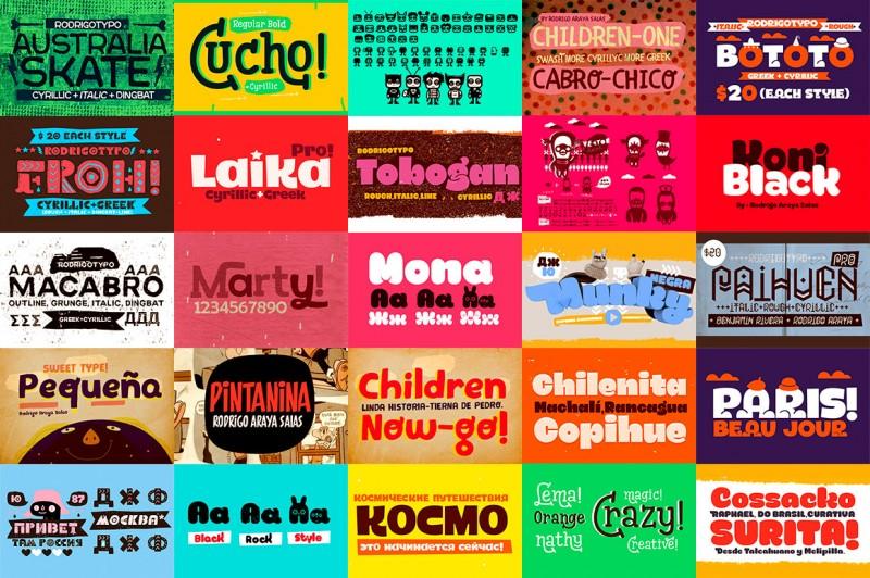 17 Cool & Funny Custom Fonts