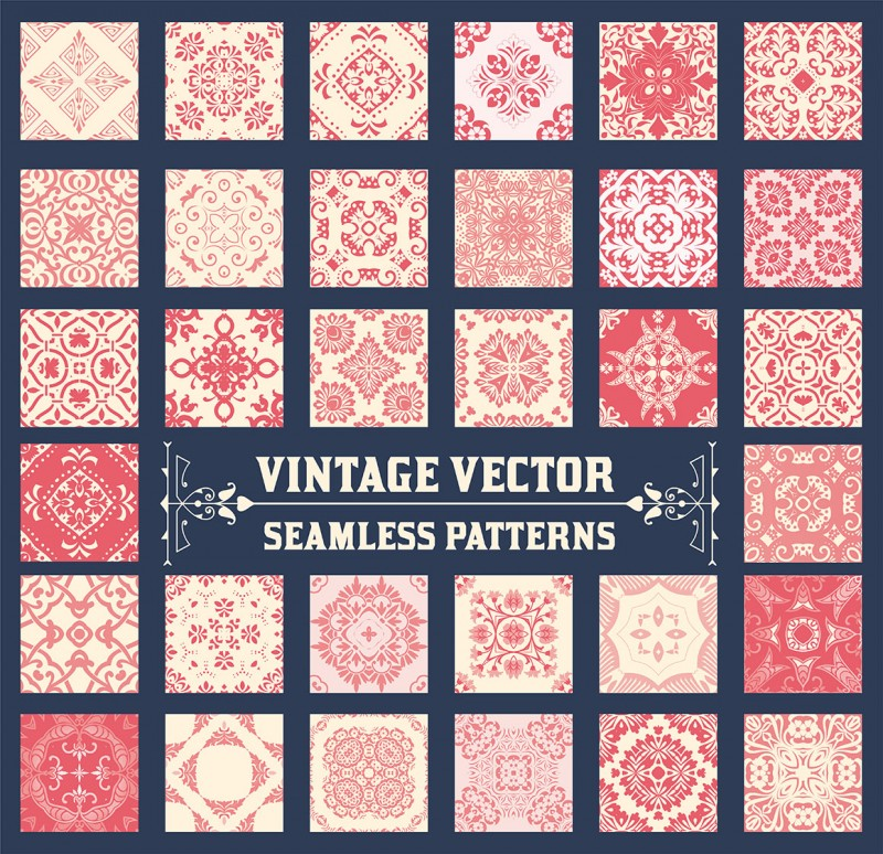 36 Seamless Patterns Background Collection - for design and scra