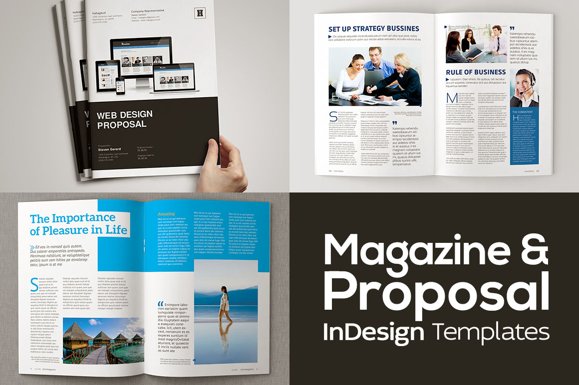Magazine & Proposal InDesign Templates - Dealjumbo com