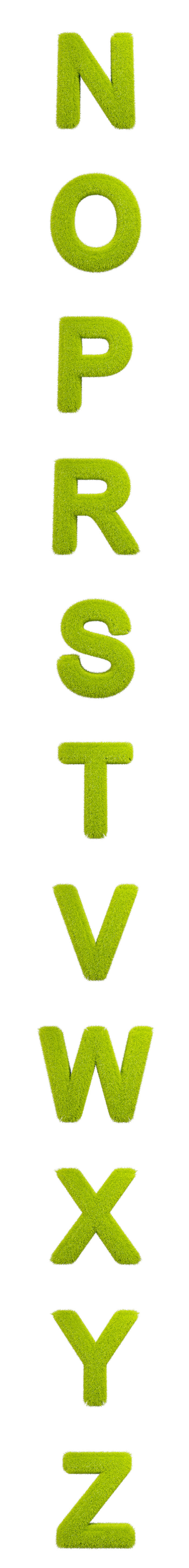 Full Grass Alphabet Isolated Letters-2