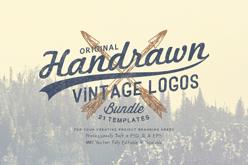 Hand Drawn Vintage Logos Bundle Cover