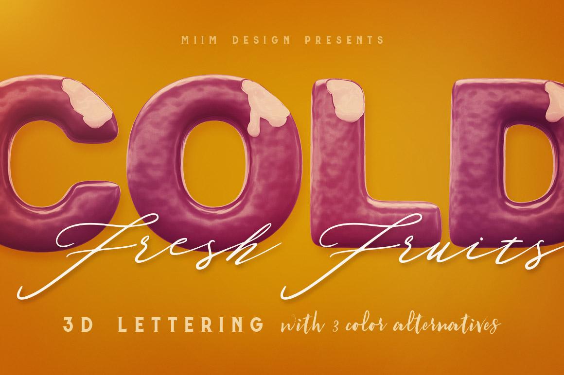 Honey Honey – 3D Lettering from MIIM Design Hi-res & realistic 3D honey or liquid lettering renders (3000×3000 – but letter size is little bit smaller).