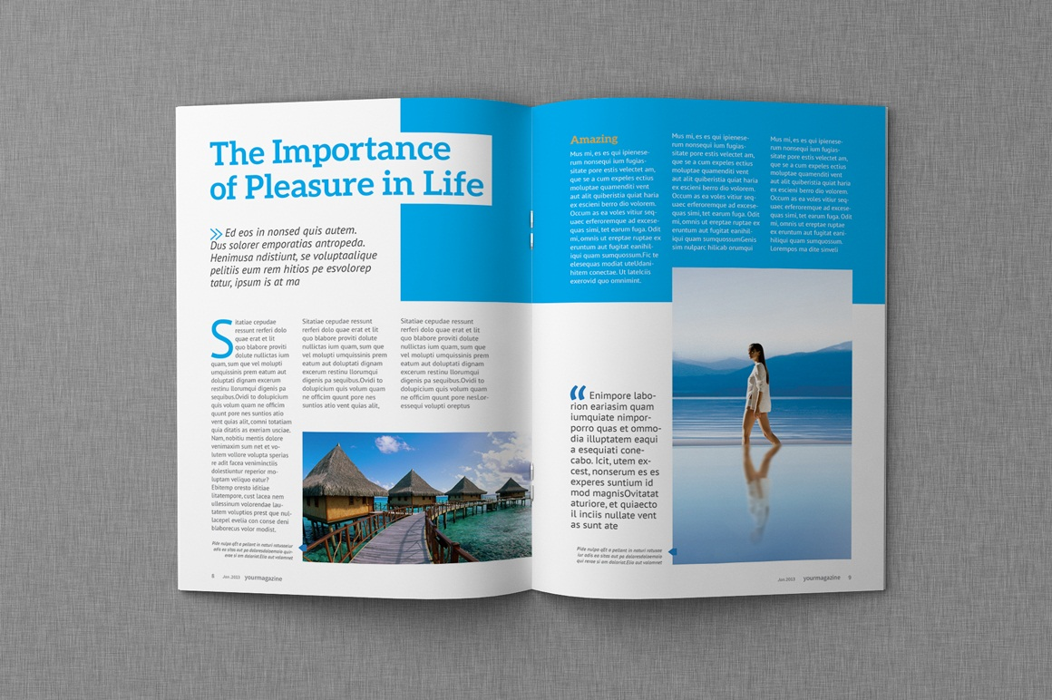 magazine & proposal indesign templates - dealjumbo, Powerpoint templates