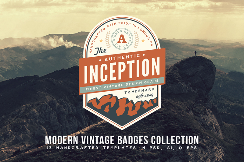 Modern Vintage Badges Collection Cover