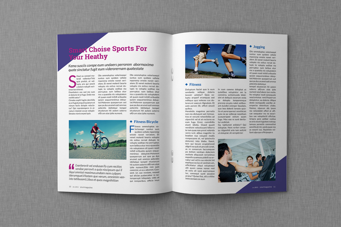 Magazine Templates | Magazine Proposal Indesign Templates Dealjumbo Com Discounted