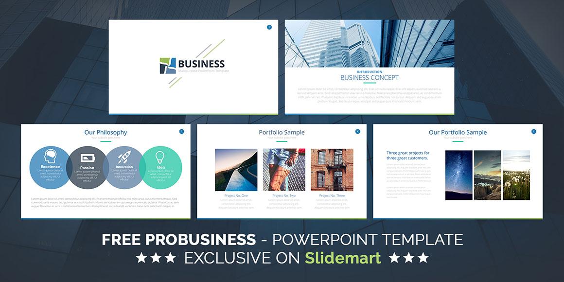 Probusiness free powerpoint template dealjumbo slides01 slides02 toneelgroepblik Choice Image