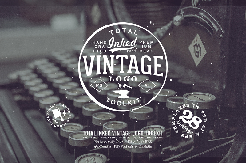 Total Inked Vintage Logo Toolkit Cover