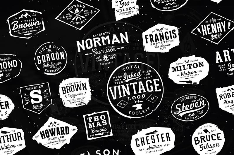 Total Inked Vintage Logo Toolkit Preview 2