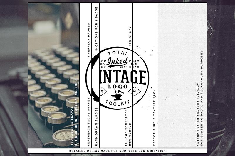 Total Inked Vintage Logo Toolkit Preview 3