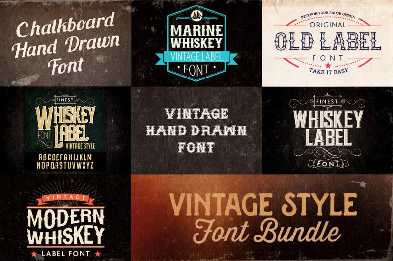 Vintage Style Font Bundle
