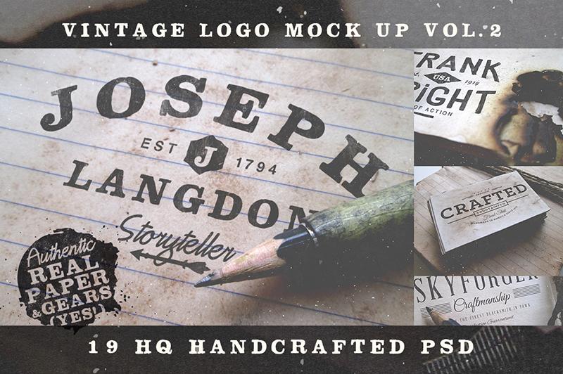 Vintage Logo Mock Up Vol 2 Cover