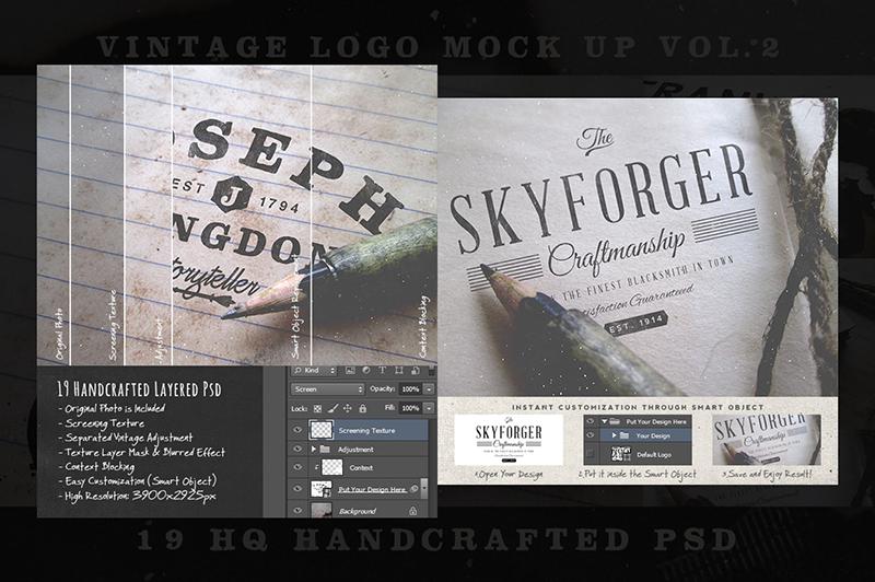 Vintage Logo Mock Up Vol 2 Preview 4