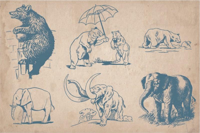 Vintage_wild_animals_2