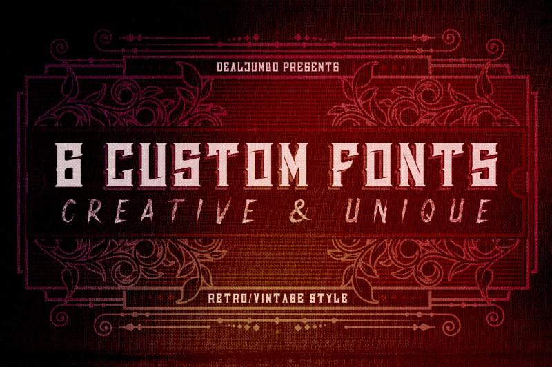 6 Creative & Unique Custom Fonts