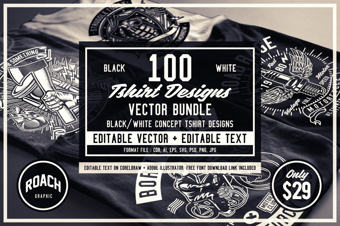 100-B&W-t-shirt-Designs