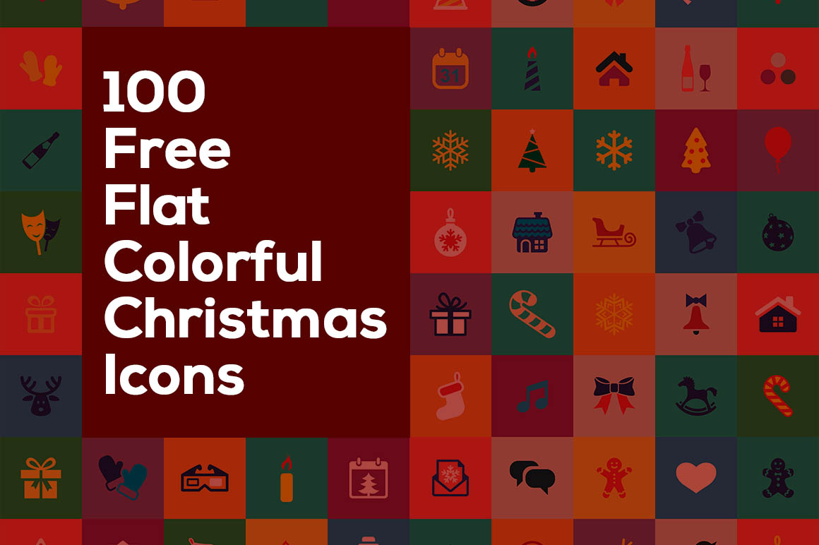 100-free-flat-colorful-christmas-icons1
