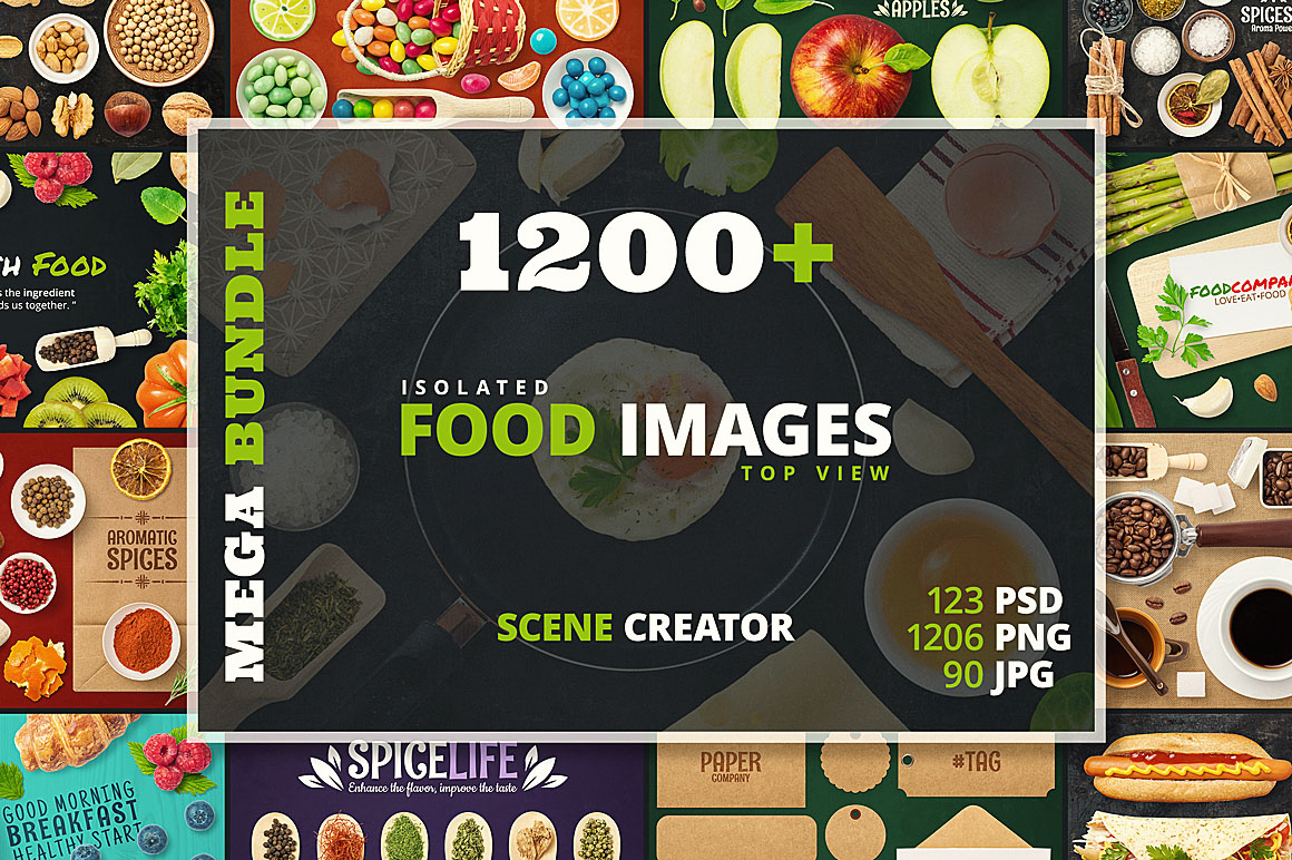 - 1200+ Isolated Food Images Bundle Preview 1