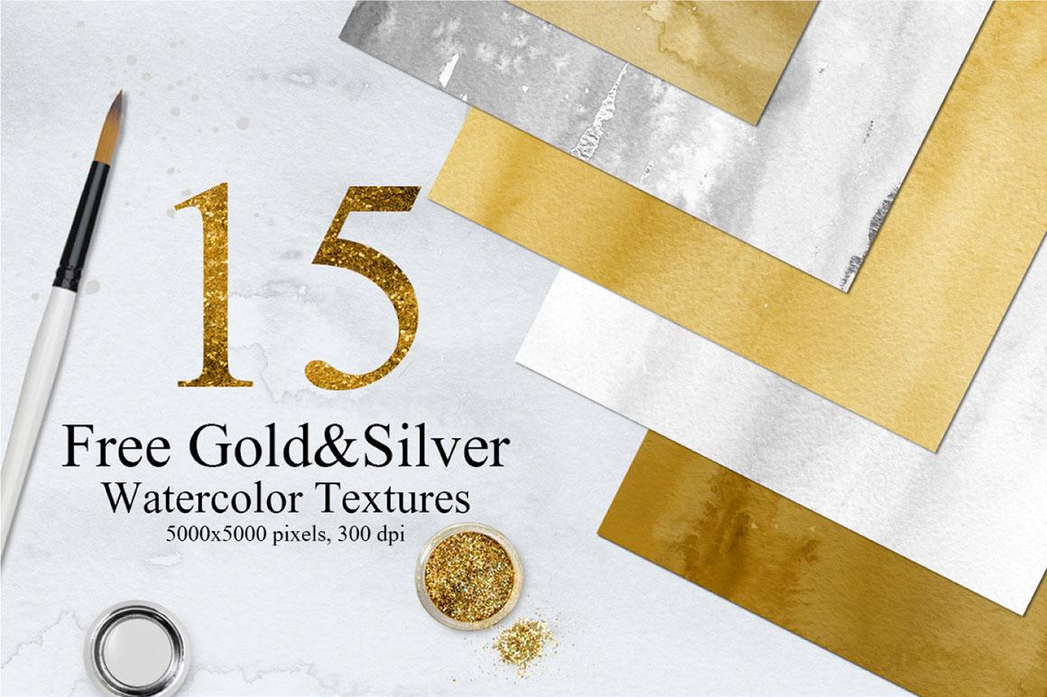 15 Free Gold Watercolor Paper Backgrounds - Dealjumbo com