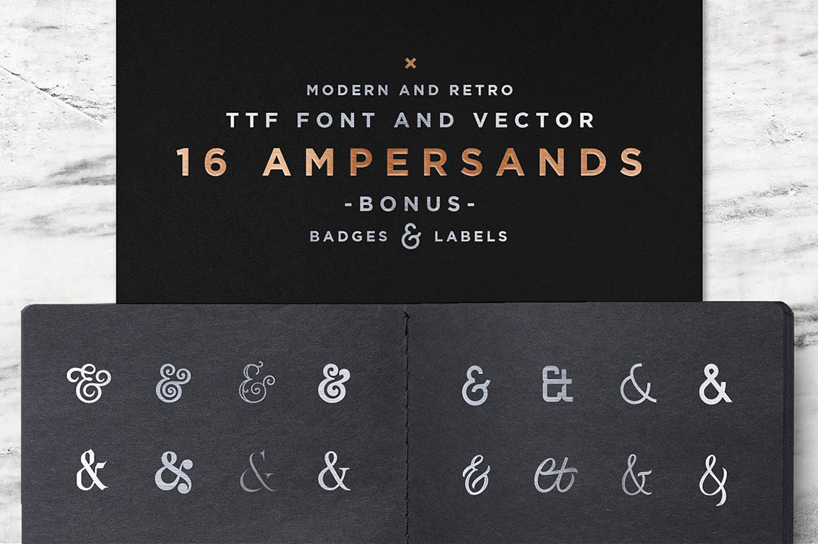 16 Ampersands Set1