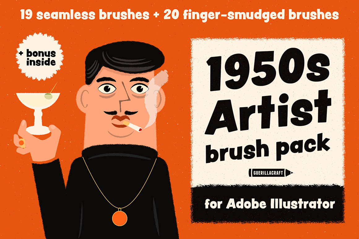 1950s Artist Brush Pack1