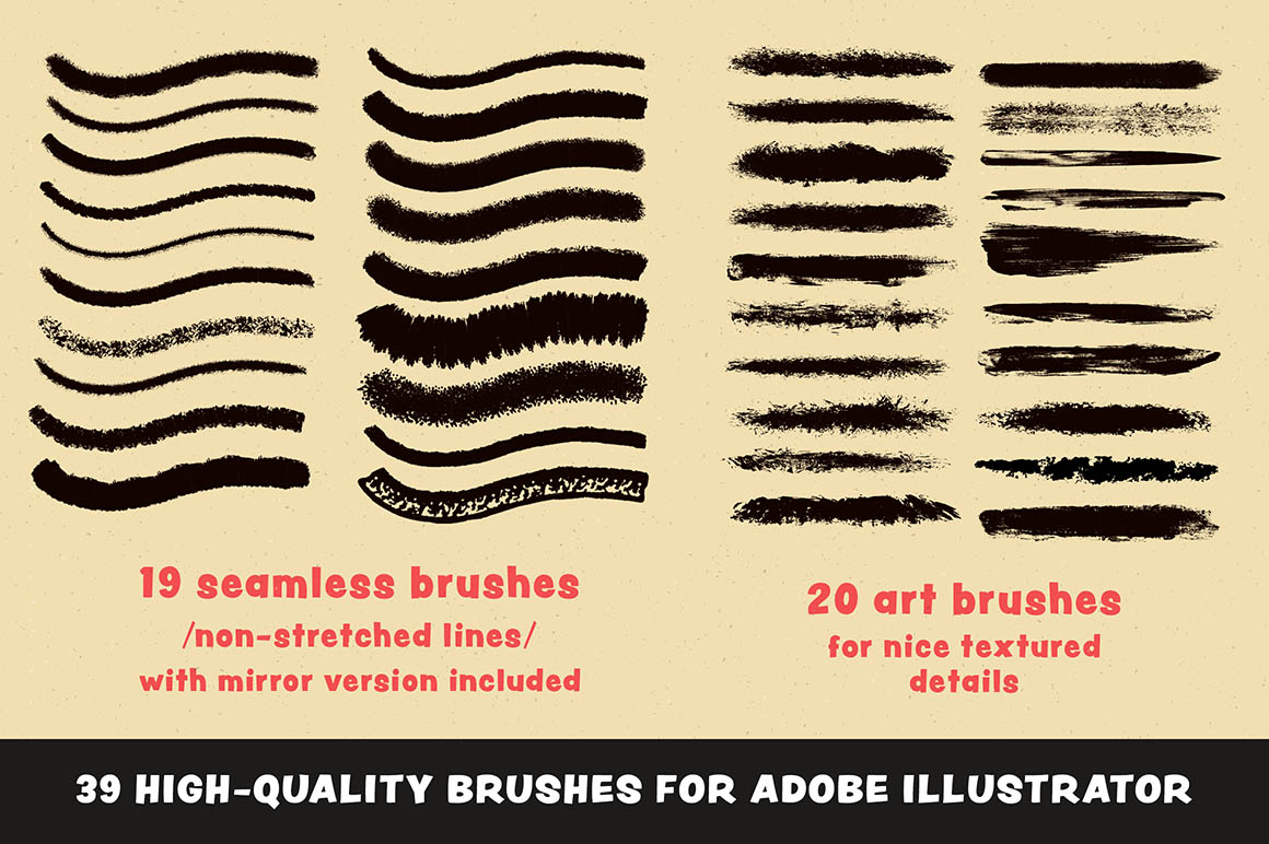 1950s Artist Brush Pack6