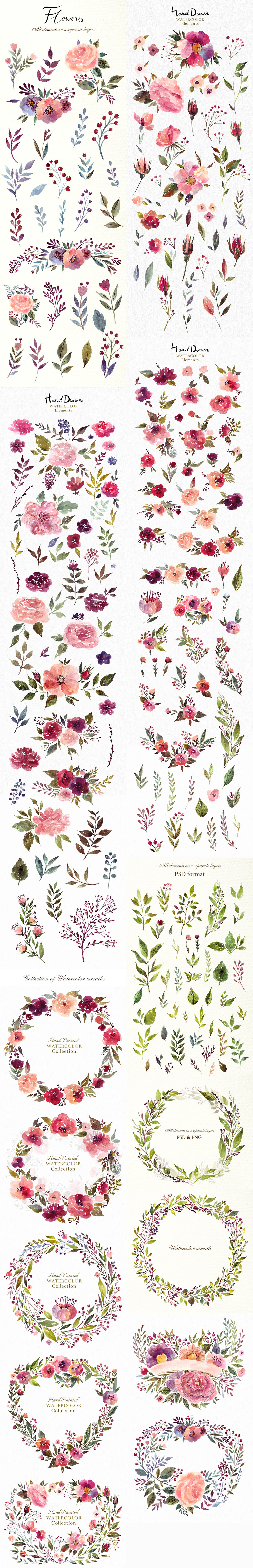 230 Watercolor graphic elements 2