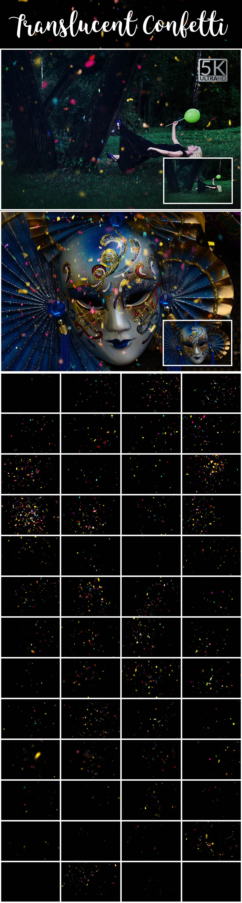 34 - Translucent Confetti