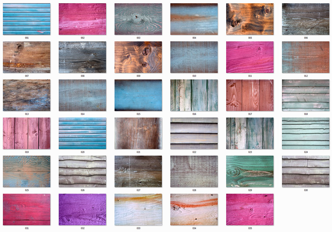 35 Colored & Weathered Wood Textures2