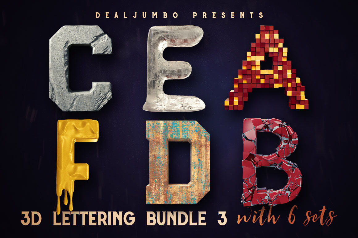 3DletteringMegaBundle3b2