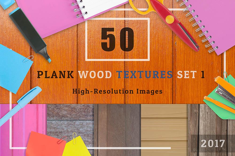 50-Plank-Wood-Textures-Background-Set-01