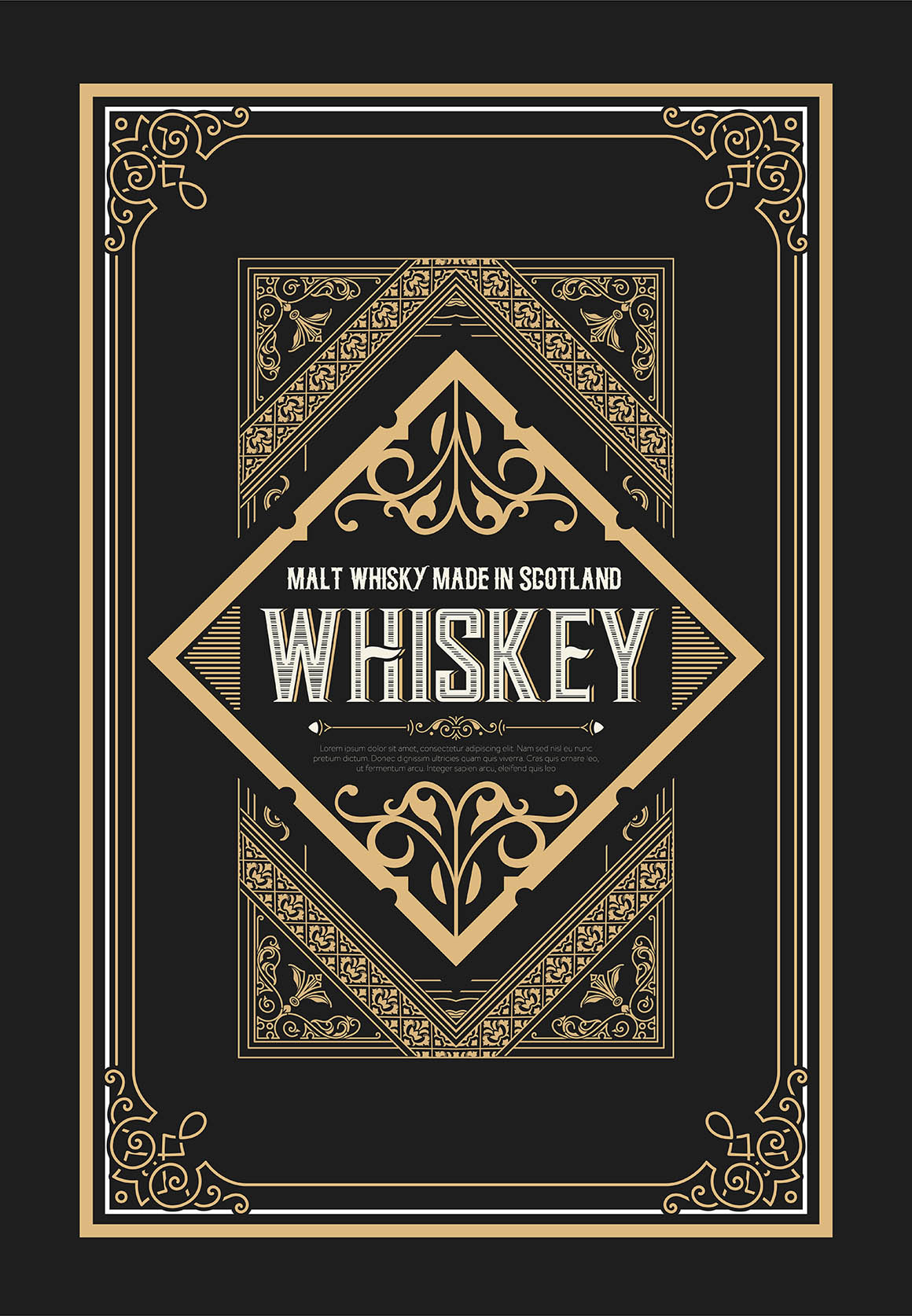 Vintage badge for whiskey packing