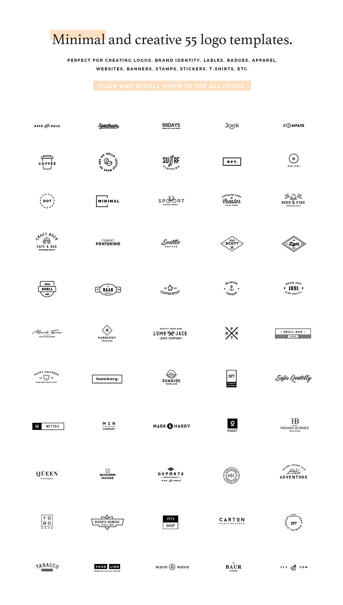 55 Logo Templates Bundle1