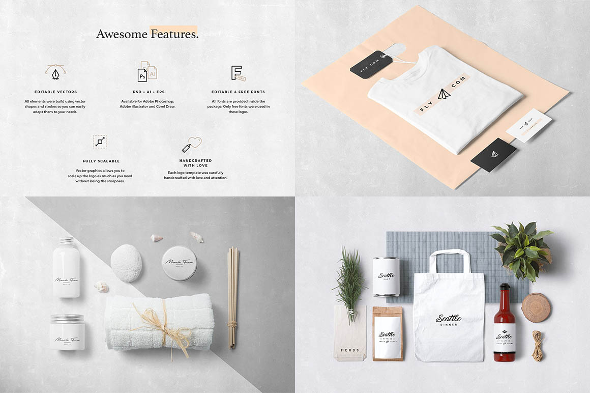 55 Logo Templates Bundle2