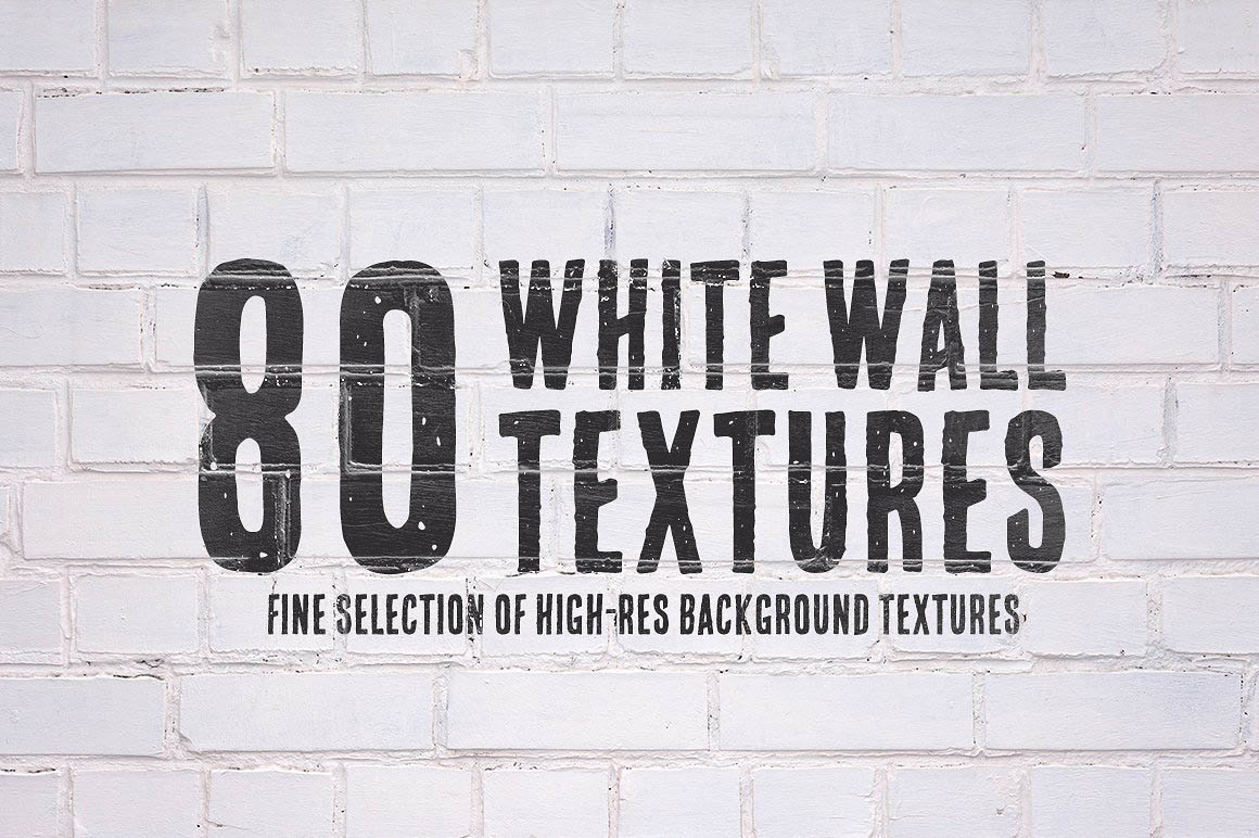 80 White Wall Textures Bundle1