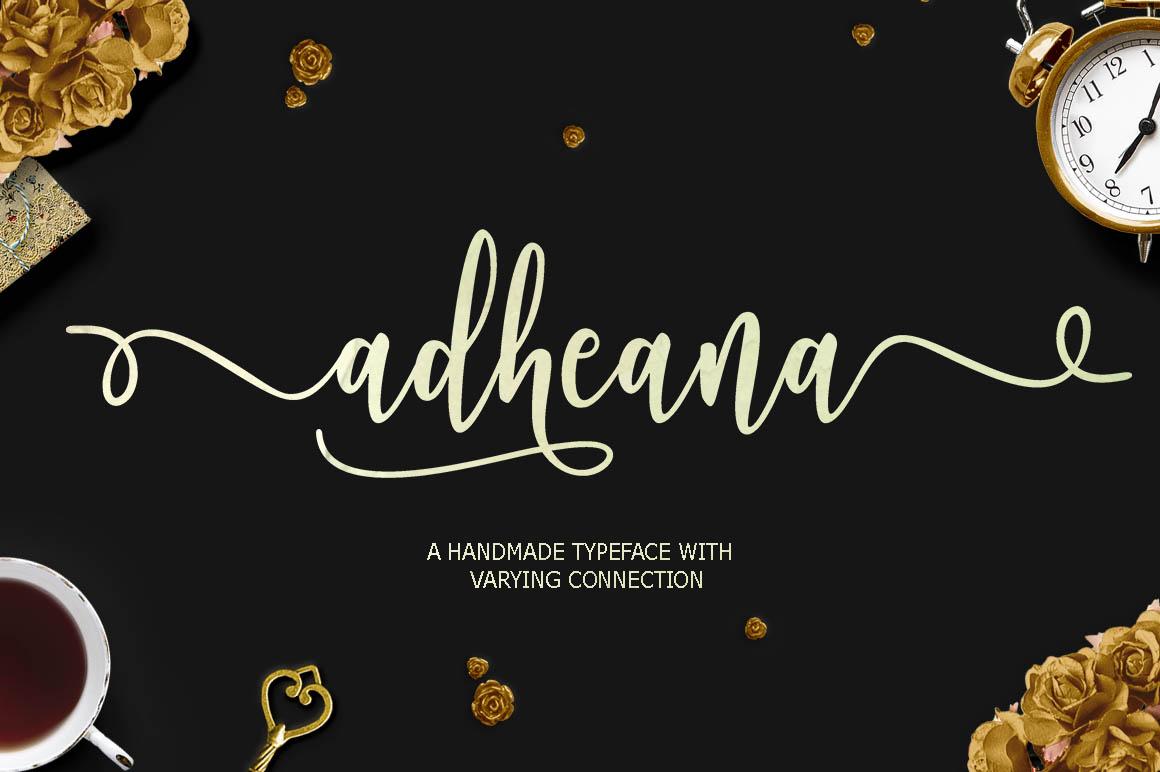 Adheana Script Font Duo 1