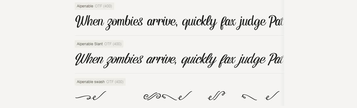 Alpenable script 4