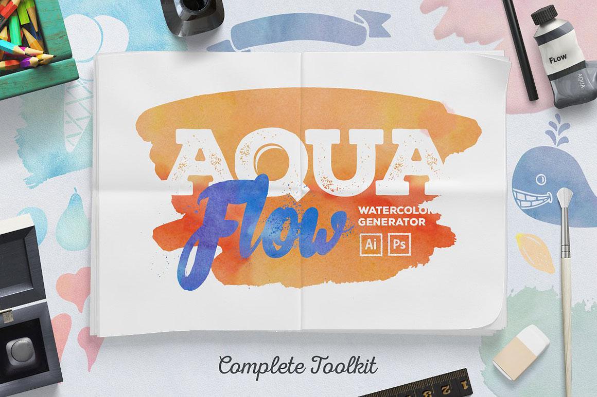 AquaFlow Watercolor Generator1