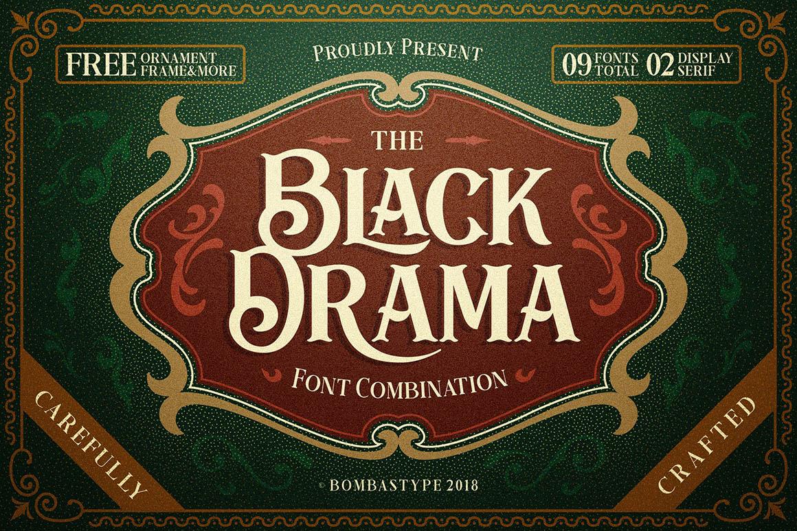 Black-Drama-free-font-1