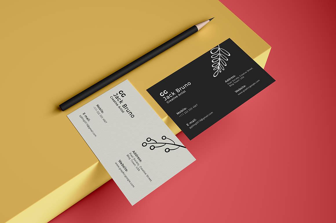 Brand Business Card Free Mockup Dealjumbo Discounted