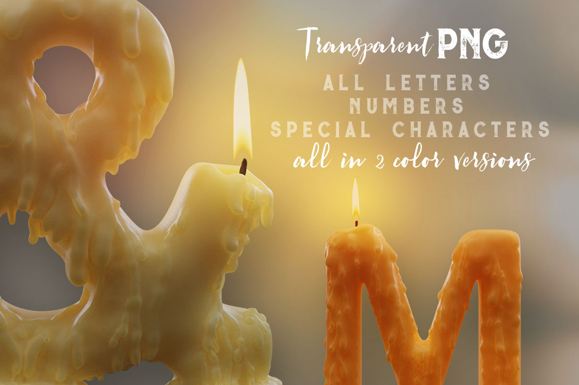 Candle-Light-3d-lettering-02
