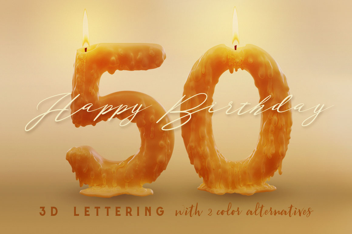 Candle-Light-3d-lettering-04