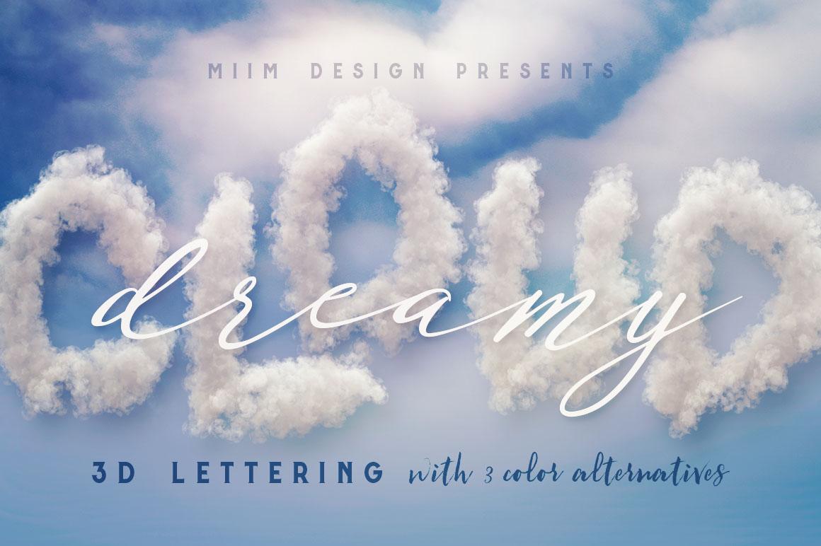 Clouds-3d-lettering-01