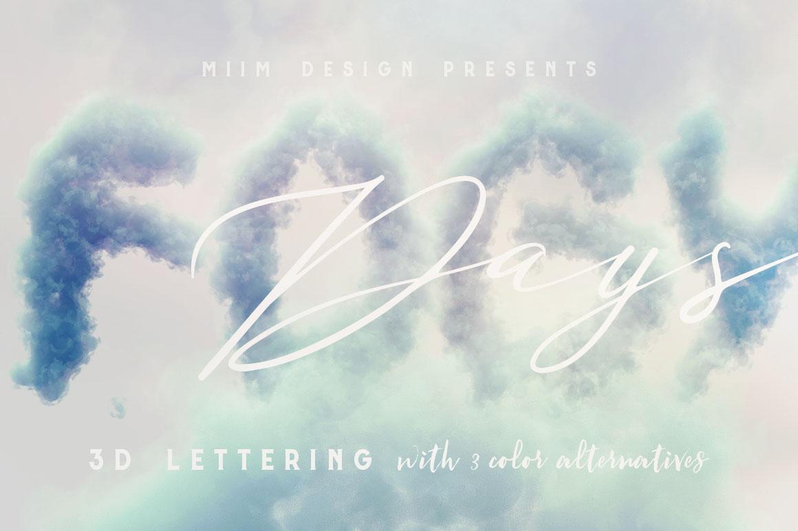 Clouds-3d-lettering-05