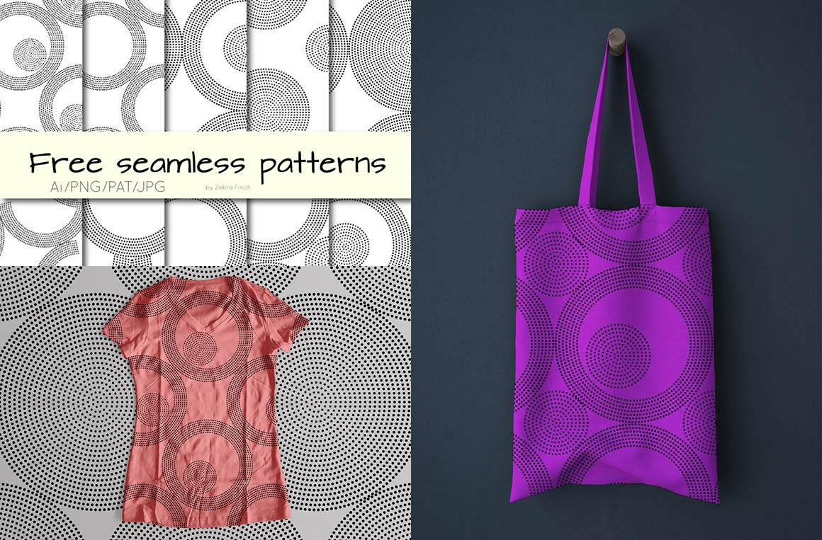 Free Dotted Circles Seamless Patterns - Dealjumbo com