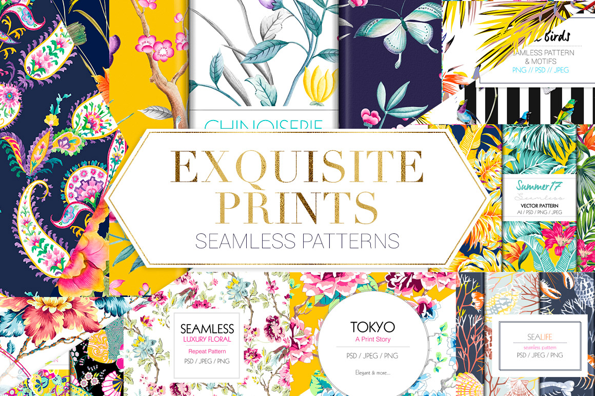 Exquisite-Prints-Seamless-Patterns