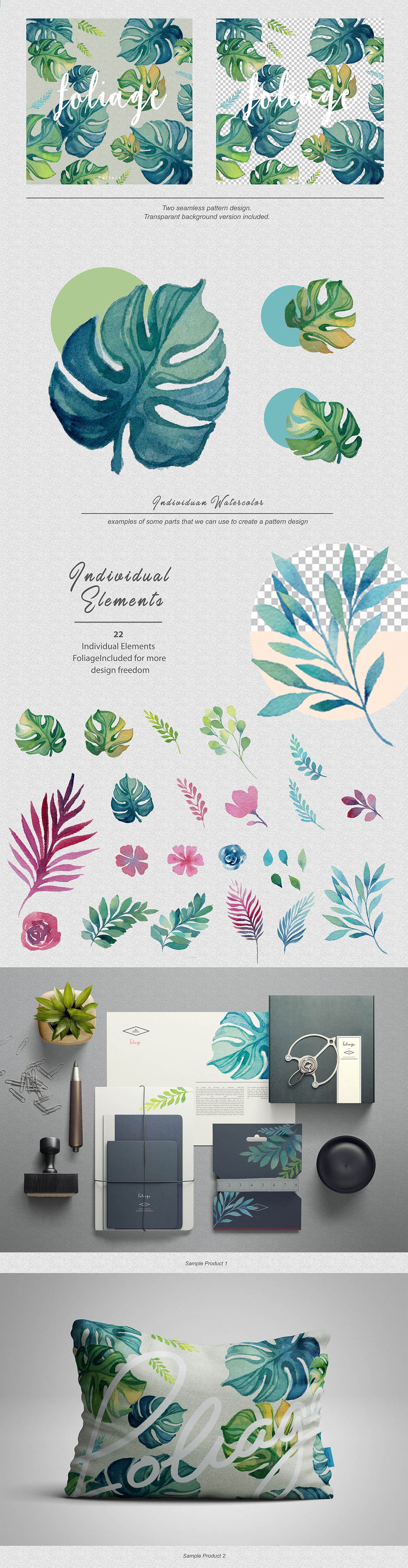Foliage-watercolor-design-kit-2