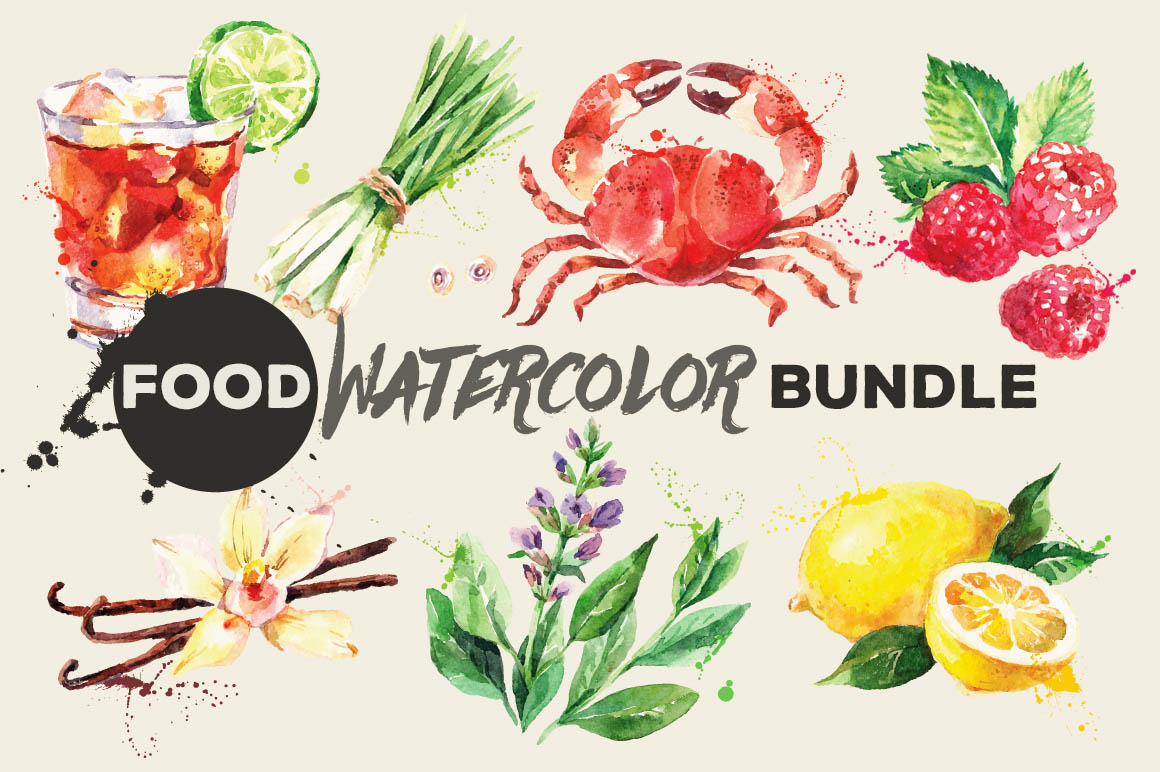 FoodWatercolorBundle