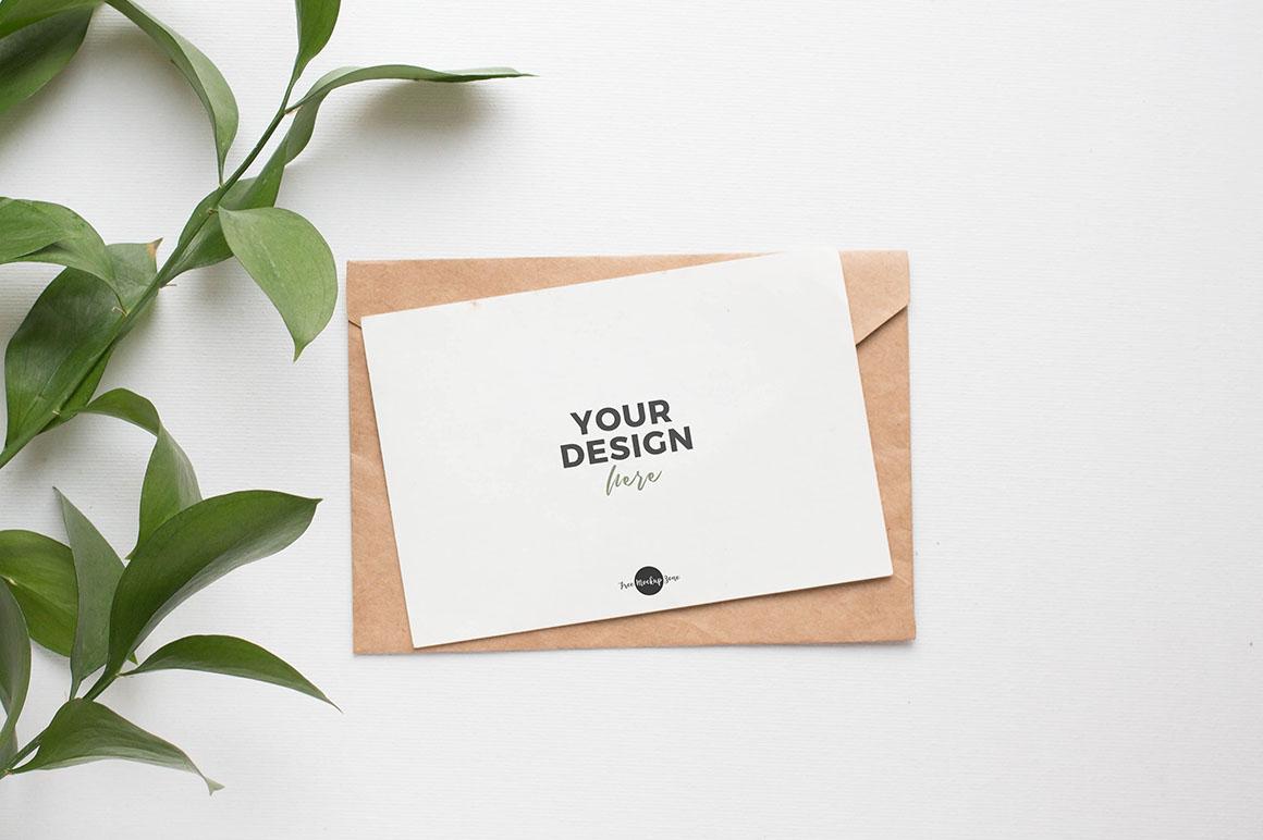 Elegant Invitation Card Free Mockup Dealjumbo Com