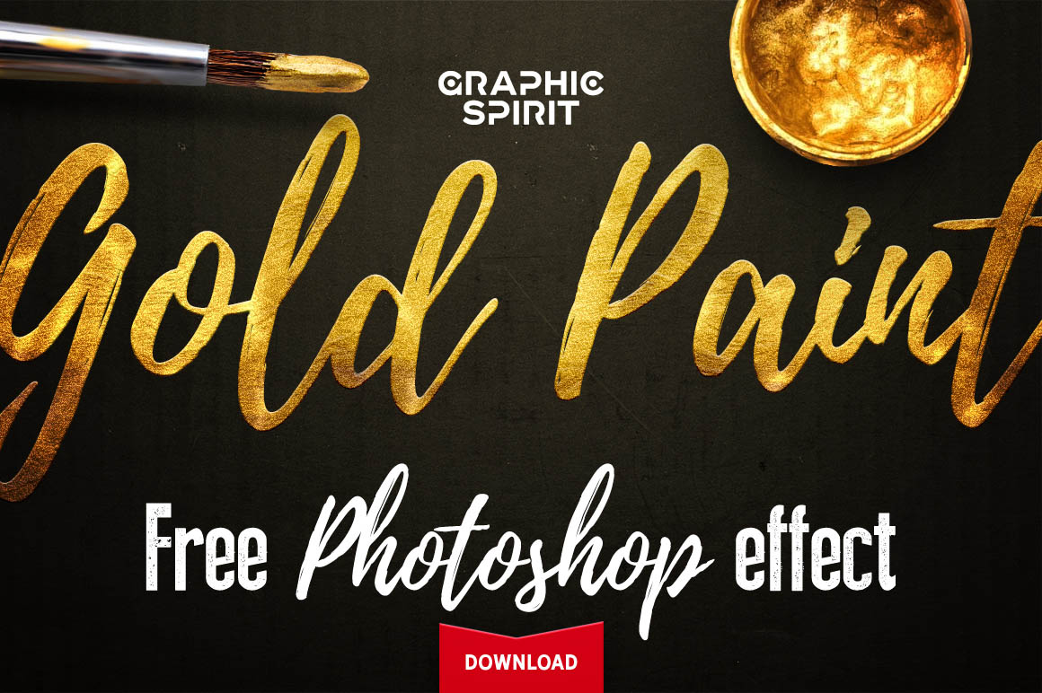 Free-Gold-Paint-Photoshop-Effect