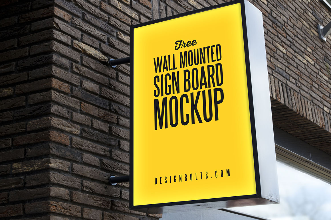 free outdoor sign mockup dealjumbo com discounted design bundles